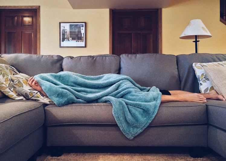 apartment bed carpet chair